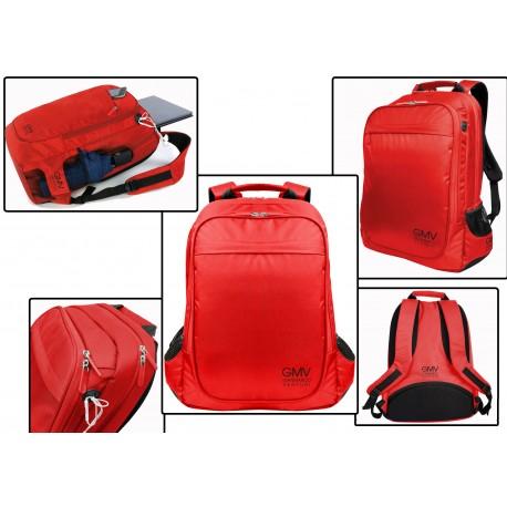 Zaino rosso porta pc computer portatile fino 17 pollici - Zaino porta pc 12 pollici ...