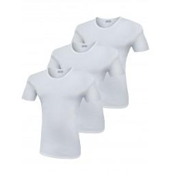 T-Shirt Uomo Liabel Elasticizzante 3 Pezzi Girocollo Manica Corta Bianco